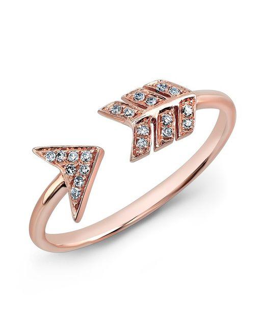 Anne Sisteron - Pink 14kt Rose Gold Diamond Arrow Ring - Lyst