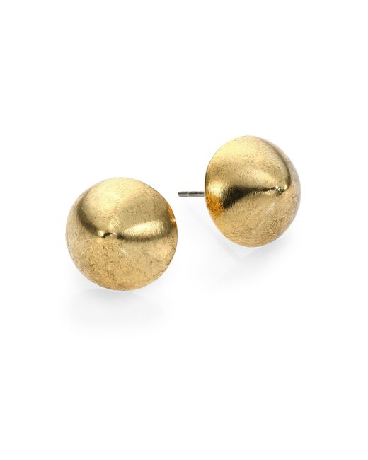 Nest | Metallic Brushed Stud Earrings | Lyst