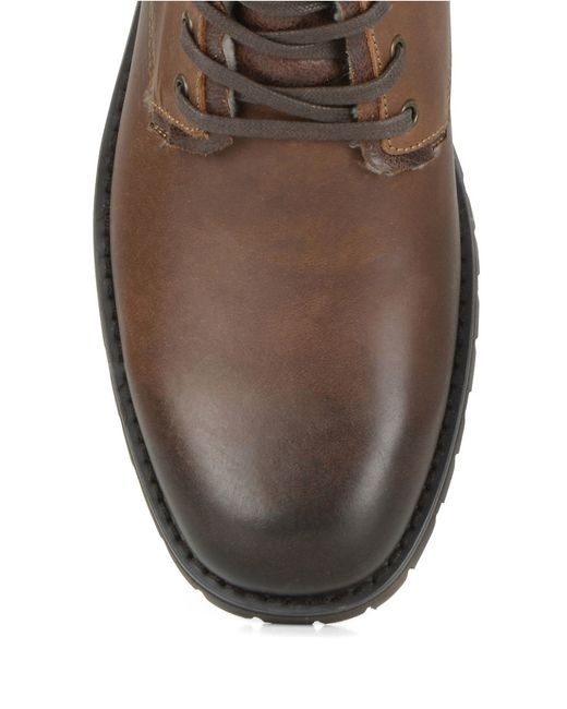 marc new york vesey fleece lined leather hiking boots in