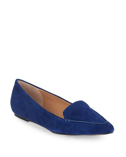 Saks Fifth Avenue   Blue Point-toe Suede Loafers   Lyst