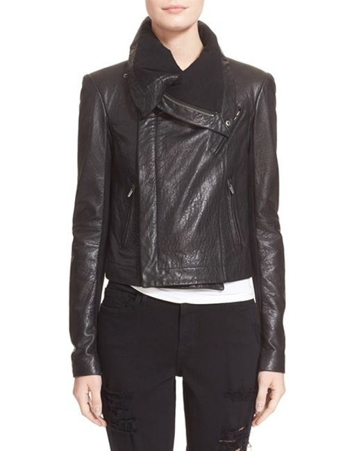 VEDA | Black 'max Classic' Leather Jacket | Lyst