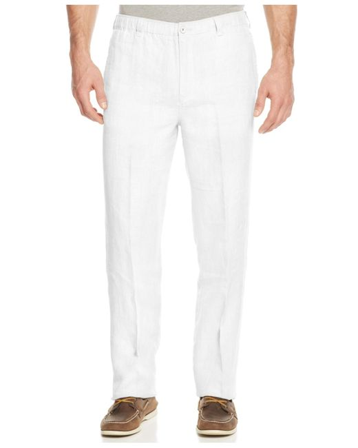 Tommy Bahama Men S New Linen On The Beach Pants In White