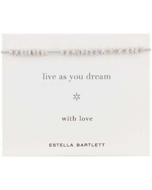 Estella Bartlett | Gray Daisy Silver Plated Cotton Cord Bracelet | Lyst