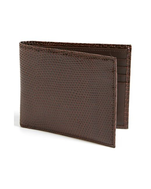 Boconi | Brown Lizard Wallet for Men | Lyst