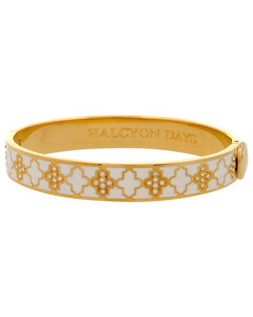 Halcyon Days | Natural Halycon Days Agama Sparkle 18ct Gold Plated Bangle | Lyst