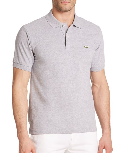 Lacoste | Silver Classic Cotton Pique Polo for Men | Lyst