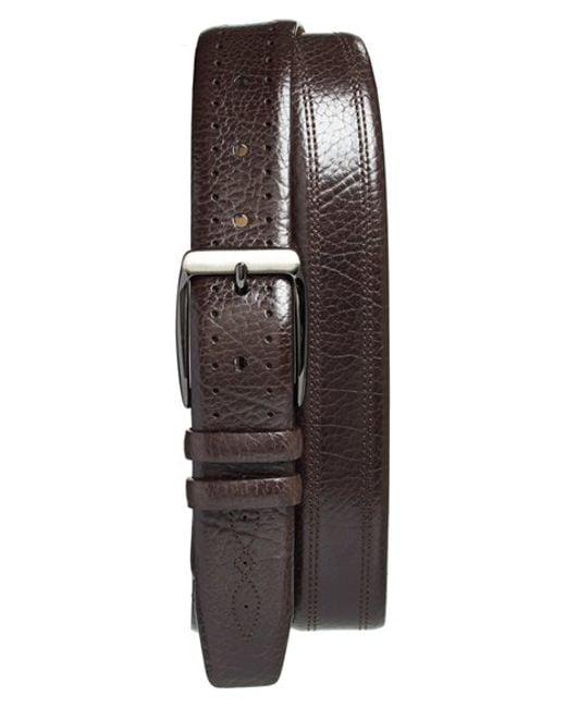 Mezlan | Brown 'perseo' Leather Belt for Men | Lyst