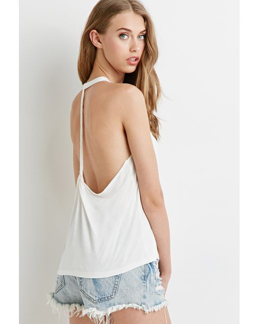 Forever 21 | Natural Braided T-back Tank | Lyst