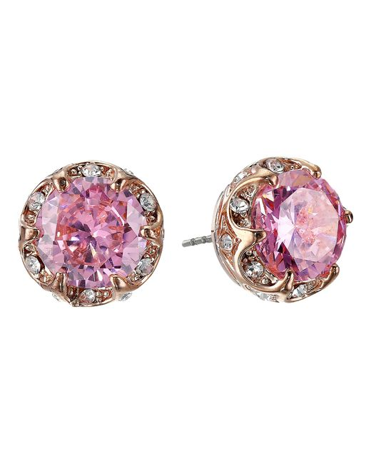 Betsey Johnson | Pink All That Glitters Earrings | Lyst