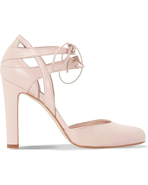 dune cannes suede leather courts in pink pink leather