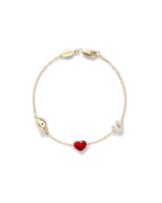Alison Lou | Red 14k Eye Love U Bracelet | Lyst
