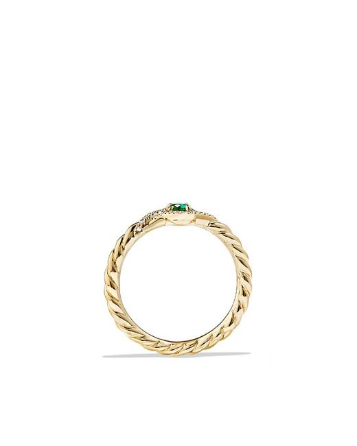 david yurman venetian quatrefoil ring with emerald and