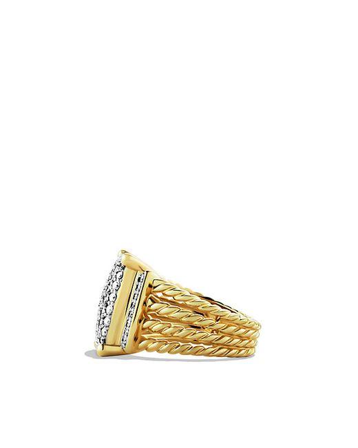 David Yurman   Metallic Wheaton Ring With Diamonds In 18k Gold   Lyst