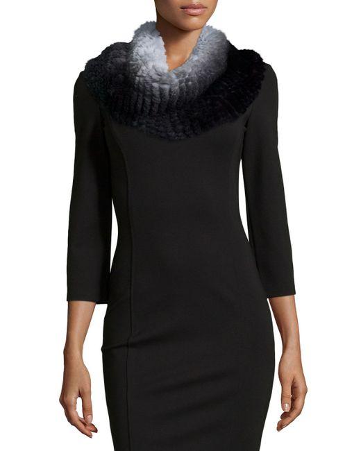 Neiman Marcus | Black Ombre Fur Snood | Lyst