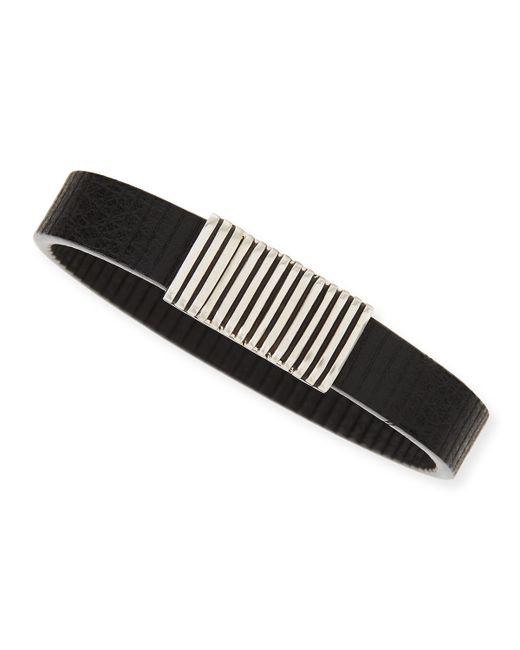 John Hardy   Black Men's Bedeg Linear Stripe Leather Bracelet   Lyst