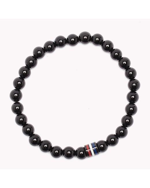 Tommy Hilfiger   Black Bead Bracelet for Men   Lyst