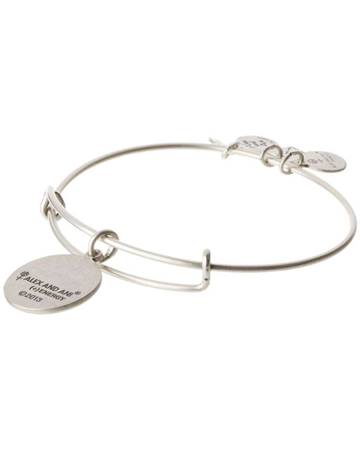 ALEX AND ANI | Metallic Everything Happens For A Reason Charm Bangle | Lyst