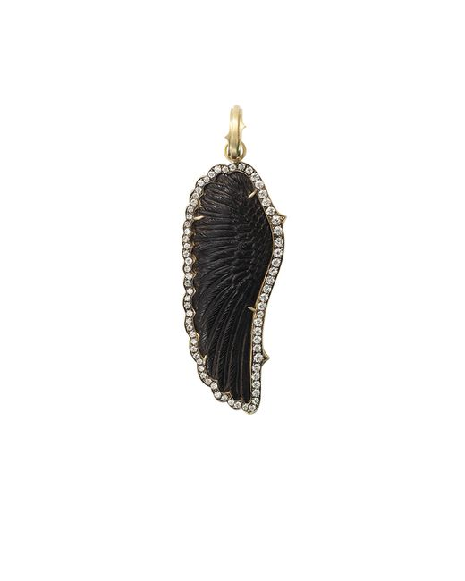 Sylva & Cie | Black Hand-carved Onyx Wing Pendant | Lyst