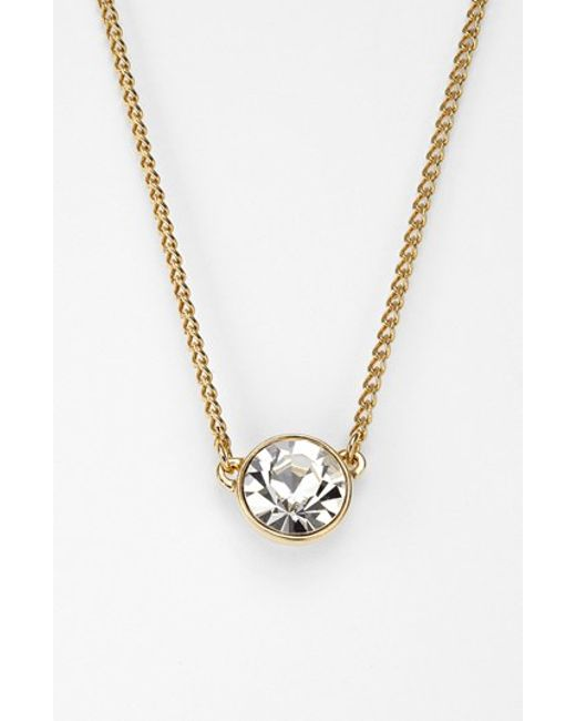 Givenchy   Metallic Crystal Pendant Necklace   Lyst
