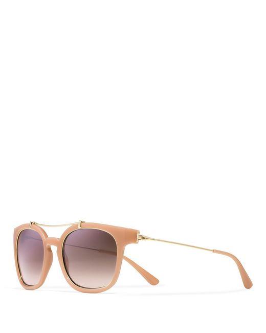 Tory Burch | Pink Metal Brow-Bar Sunglasses | Lyst