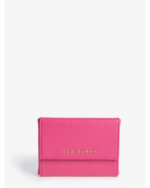 Ted Baker | Pink Crosshatch Leather Purse | Lyst