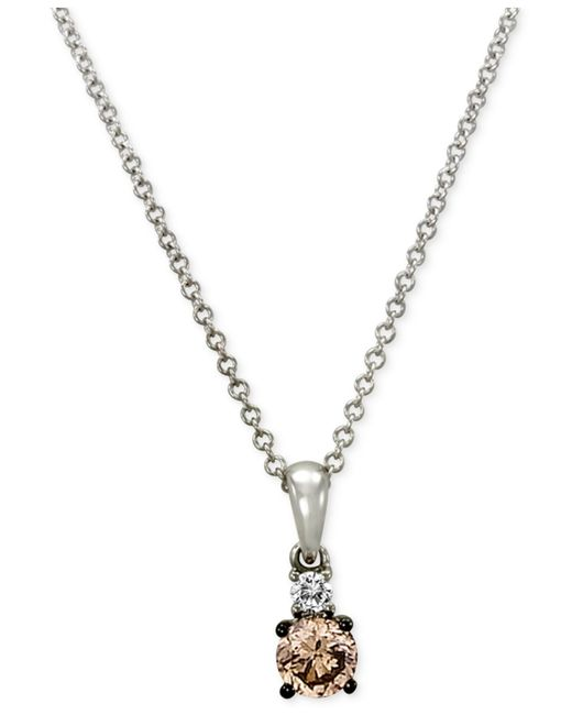 Le Vian | Metallic Chocolatier® Diamond Pendant (1/3 Ct. T.w.) In 14k White Gold | Lyst