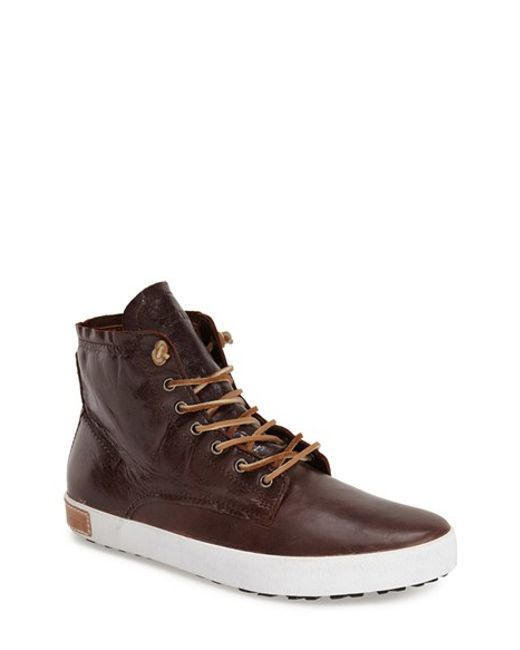 Blackstone | Brown 'im 10' Leather High Top Sneaker for Men | Lyst