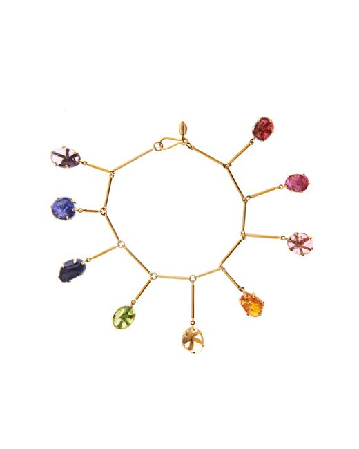 Pippa Small | Blue Multi-stone & Yellow-gold Bracelet | Lyst