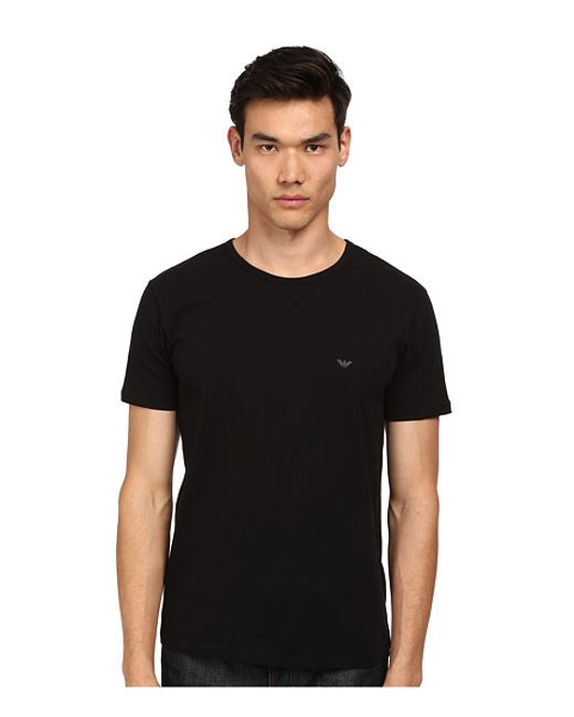 Emporio Armani | Black Three-pack Cotton Crewneck T-shirts for Men | Lyst