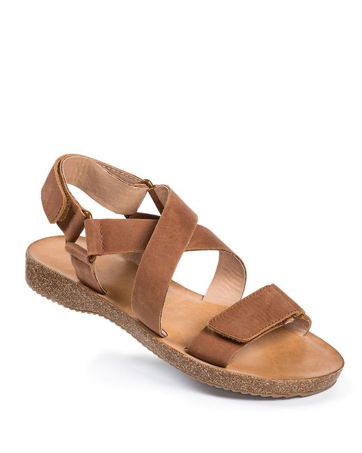 Me Too | Brown Adora Leather Strappy Sandals | Lyst