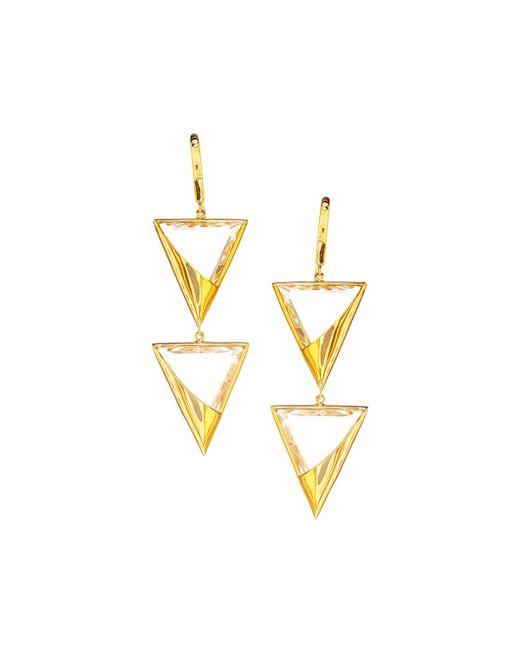 Lana Jewelry | Metallic 14k Elite Jetset Crystal Duo Earrings | Lyst