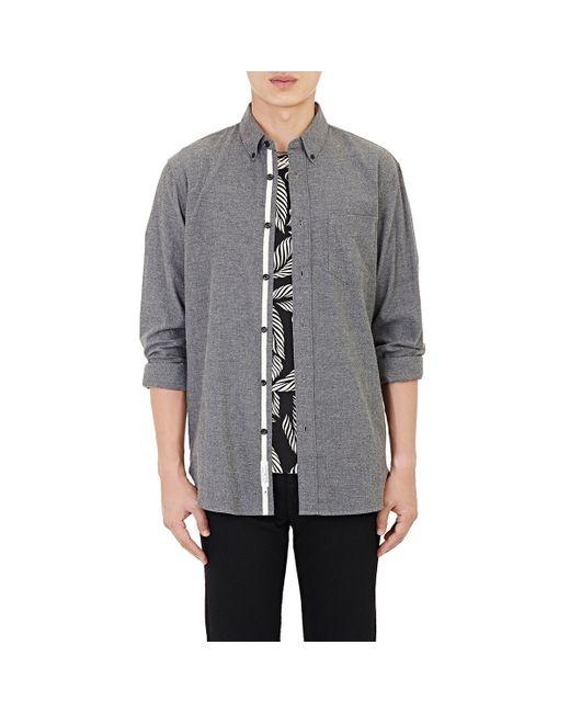 Rag & Bone | Gray Flannel Standard Issue Shirt for Men | Lyst