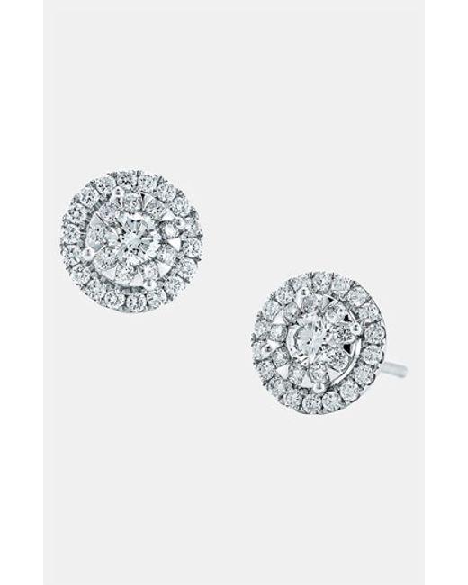 Kwiat | White 'sunburst' Diamond Stud Earrings | Lyst