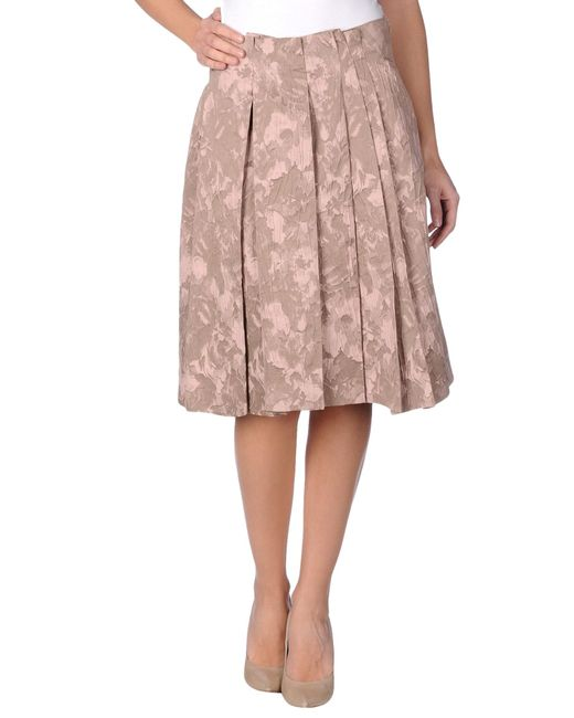 jil sander navy knee length skirt in pink lyst