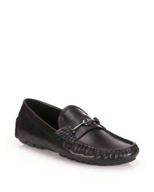 coach crosby turnlock driving shoes in black for lyst