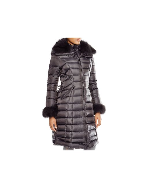 Dawn Levy | Gray Trina Fur-trim Down Jacket | Lyst