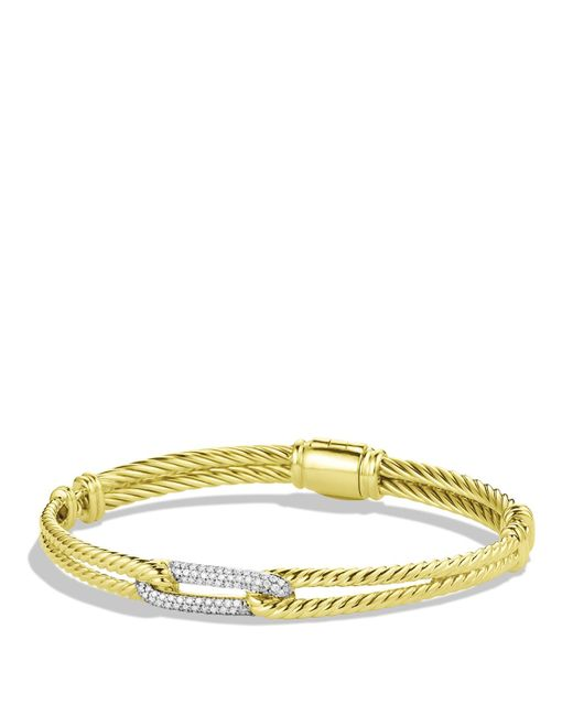 David Yurman | Yellow Châtelaine Bracelet With Lemon Citrine And Diamonds | Lyst