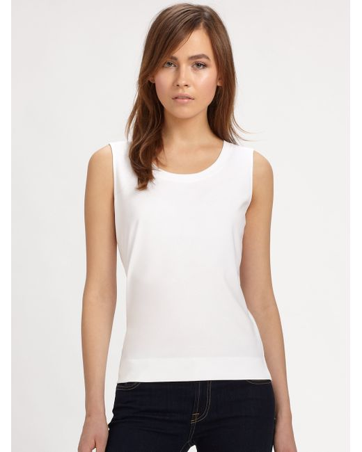 148 Best Images About Craft Ideas For Girls On Pinterest: Lafayette 148 New York Stretch-cotton Scoopneck Tank Top