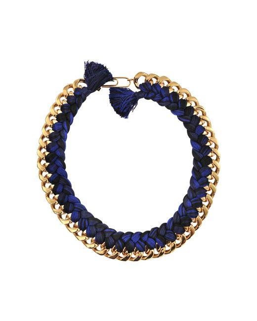 Aurelie Bidermann | Blue Do Brasil Braided Necklace | Lyst