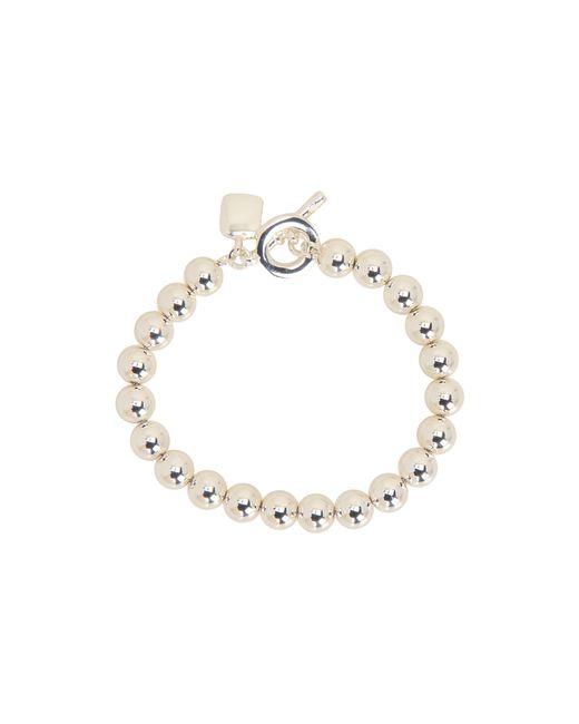 Lauren by Ralph Lauren | Metallic 8mm Beaded Bracelet W/toggle | Lyst