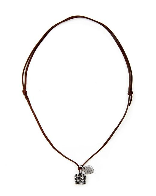 English Laundry | Brown Crown Leather Cord Pendant for Men | Lyst