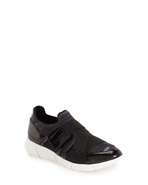 calvin klein willia color blocked sneakers in black for. Black Bedroom Furniture Sets. Home Design Ideas