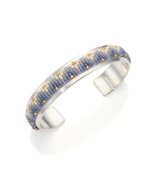 Chan Luu | Metallic OmbrÉ Beaded Sterling Silver Cuff Bracelet | Lyst