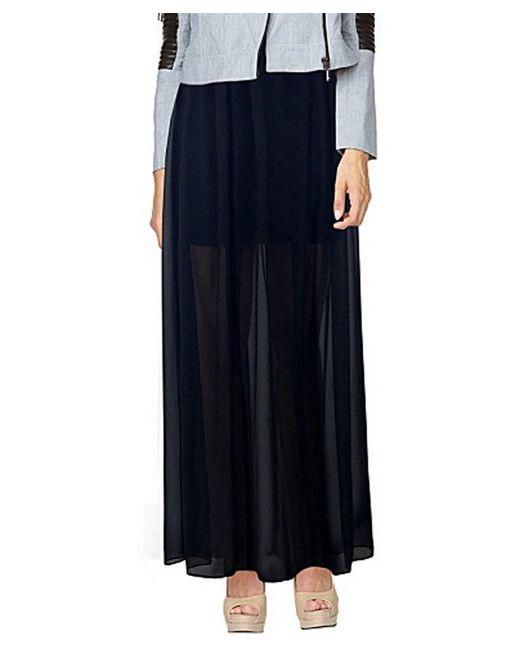 stella valeriana maxi skirt i black in black lyst
