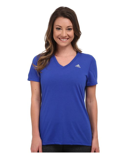 Adidas Originals   Blue Ultimate S/s V-neck Tee   Lyst