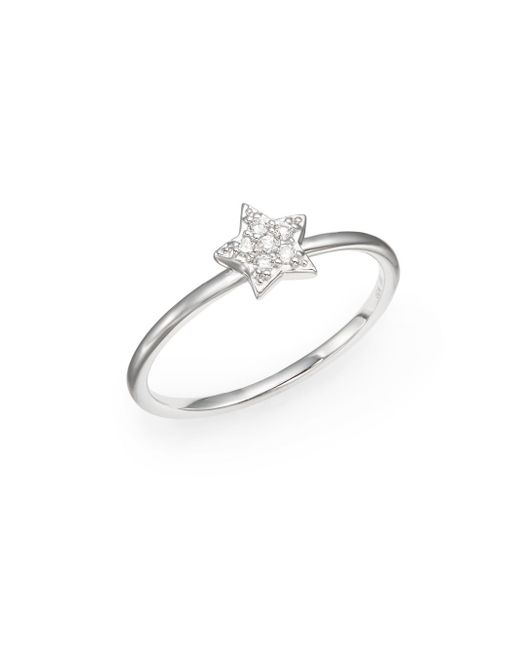 KC Designs | Brilliant Pavé Diamond & 14k White Gold Star Ring | Lyst