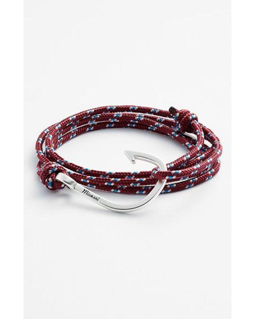 Miansai | Purple Silver Hook Rope Bracelet for Men | Lyst