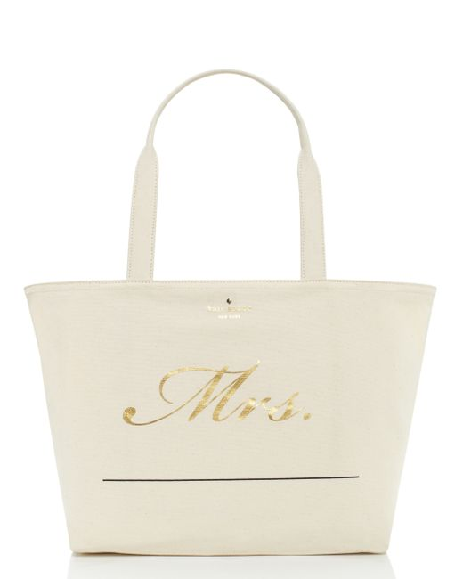 Kate Spade | Multicolor Wedding Belles Customizable Mrs Tote | Lyst