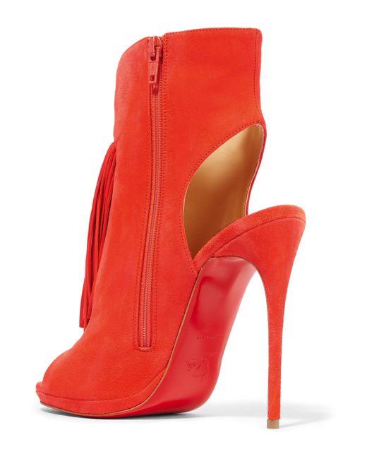 christian louboutin tasseled slide sandals