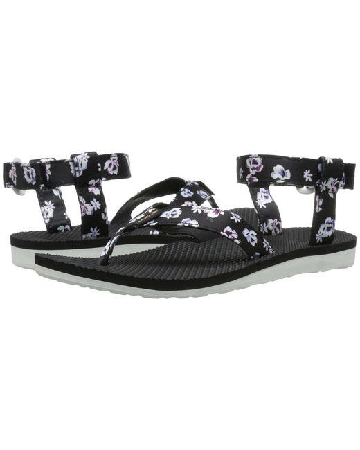 Teva | Black Original Sandal Floral Satin | Lyst